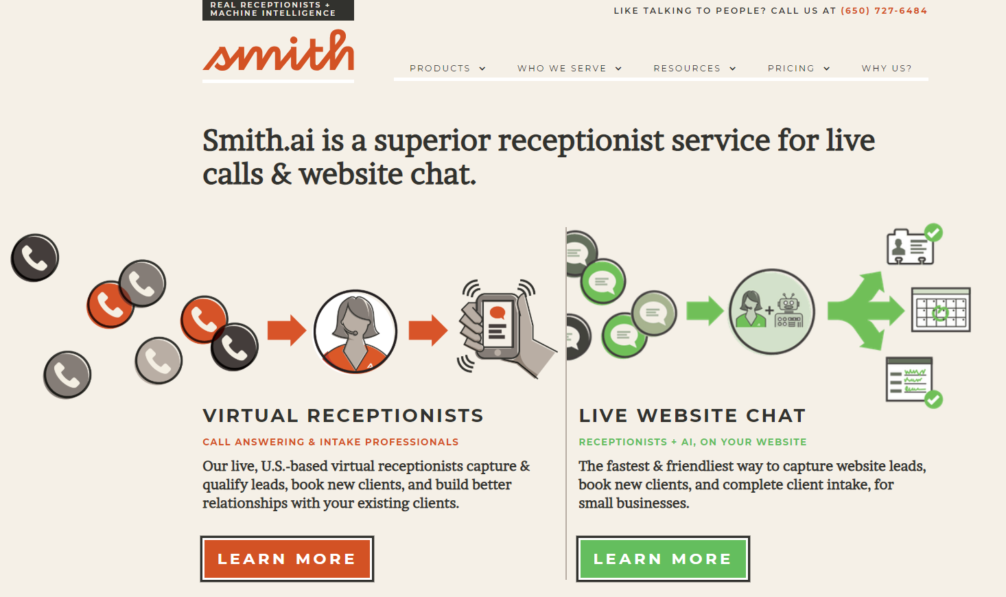 Smith.Ai Review Homepage